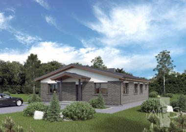 Ekonomiško namo projektas Loreta | NPS Namų projektai